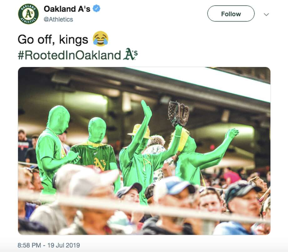 Have you ever been here before?' Announcers roast A's fans wearing