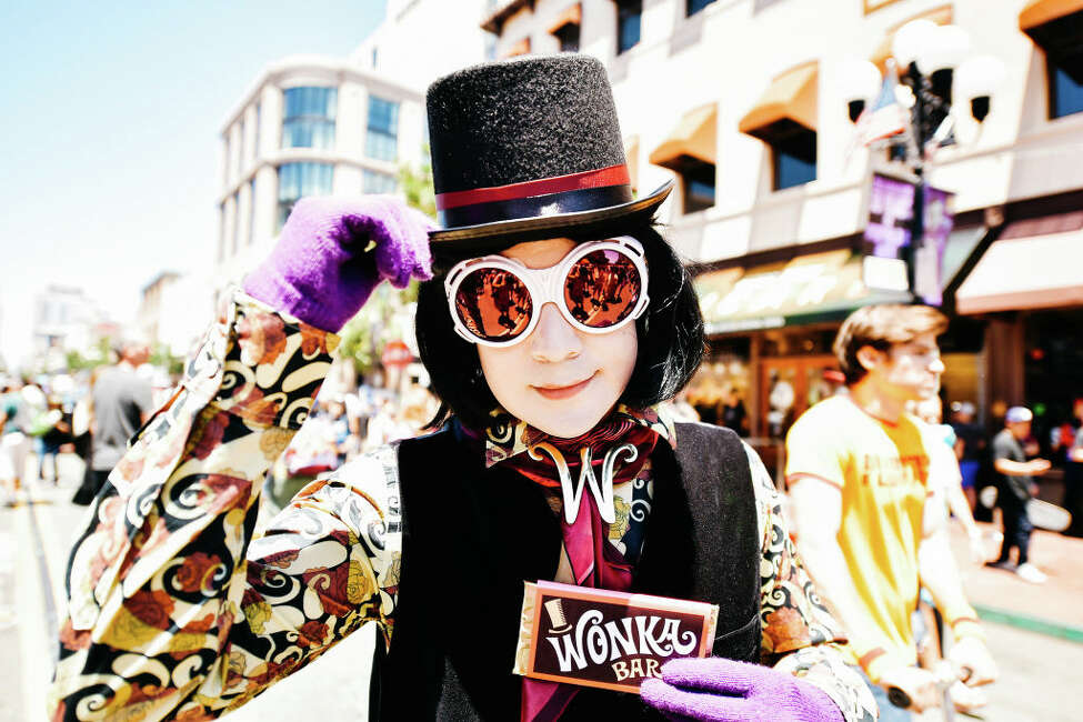 A cosplayer dressed as Willy Wonka attends the 2019 Comic-Con International on July 20, 2019 in San Diego, California.