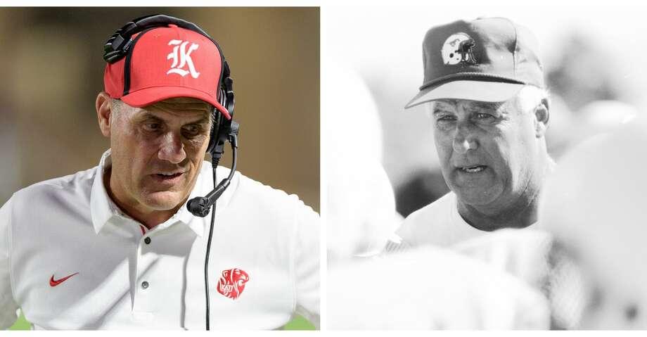 Split photo of Katy coaches Gary Joseph and Bubba Fife. Photo: Wilf Thorne