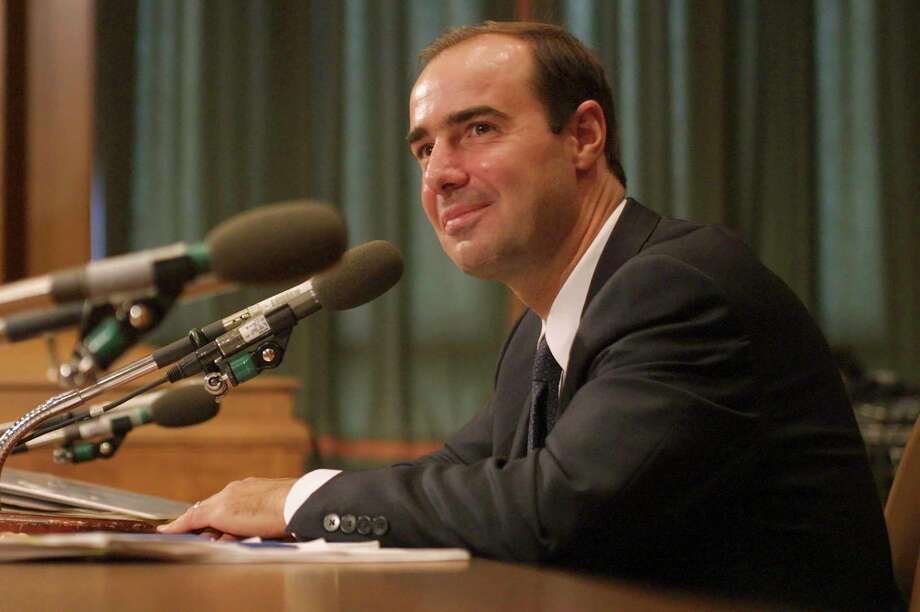 """FILE a€"""" Eugene Scalia at a Senate hearing on Capitol Hill in Washington, Oct. 3, 2001. Scalia, the son of the late Supreme Court Justice Antonin Scalia and whom President Donald Trump intends to nominate to head the Labor Department, is often hired by companies when they are sued by workers, or when they want to push back against new employment laws and regulations. (Stephen Crowley/The New York Times) Photo: STEPHEN CROWLEY / NYTNS"""