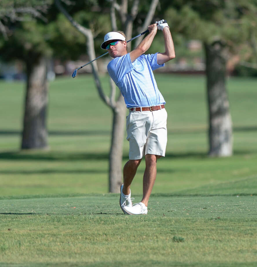 Lane Branum follows his tee shot on the eighth hole Saturday, July 20, 2019 during the West Texas Amateur golf tournament second round at Midland Country Club. Jacy Lewis/Reporter-Telegram Photo: Jacy Lewis/Reporter-Telegram