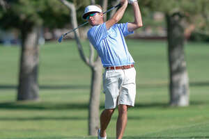 Lane Branum follows his tee shot on the eighth hole Saturday, July 20, 2019 during the West Texas Amateur golf tournament second round at Midland Country Club. Jacy Lewis/Reporter-Telegram