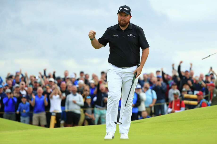 PORTRUSH, NORTHERN IRELAND - JULY 20: Shane Lowry of Ireland reacts to a putt on the 15th green during the third round of the 148th Open Championship held on the Dunluce Links at Royal Portrush Golf Club on July 20, 2019 in Portrush, United Kingdom. (Photo by Mike Ehrmann/Getty Images) Photo: Mike Ehrmann / 2019 Getty Images