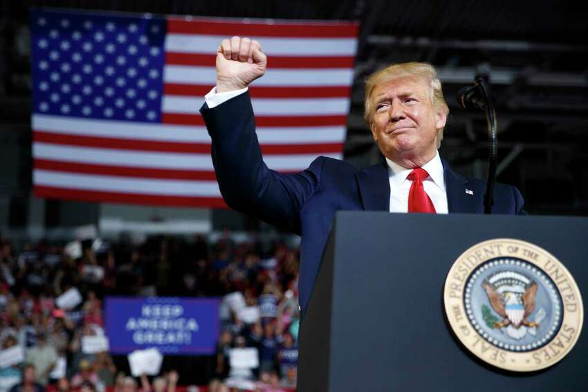 President Donald Trump delivers remarks during a rally at East Carolina University in Greenville, N.C., July 17, 2019. Since well before setting off a furor by telling four Democratic lawmakers of color to a€œgo backa€ to their home countries, Trump has sought to turn racial divisions to his advantage. (Tom Brenner/The New York Times)