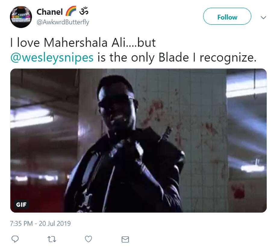Fans react to the surprise news out of San Diego Comic-Con that Oakland native Mahershala Ali will be the new Blade in the upcoming reboot of the trilogy that originally starred Wesley Snipes as the vampire-hunter. Photo: Twitter Screenshot