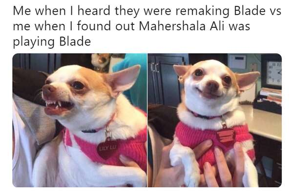 Fans react to the surprise news out of San Diego Comic-Con that Oakland native Mahershala Ali will be the new Blade in the upcoming reboot of the trilogy that originally starred Wesley Snipes as the vampire-hunter.