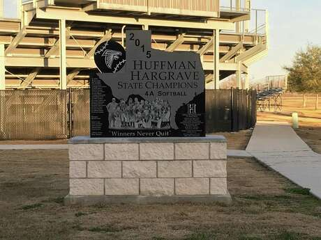 A monument was erected in the summer of 2017 right outside of the Hargrave softball field to commemorate the 2015 Hargrave state championship team.