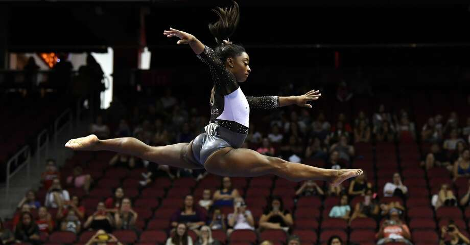 PHOTOS: Facts about Simone Biles Simone Biles performs her balance beam routine during the GK US Classic gymnastics meet in Louisville, Ky., Saturday, July 20, 2019. (AP Photo/Timothy D. Easley) Photo: Timothy D. Easley/Associated Press