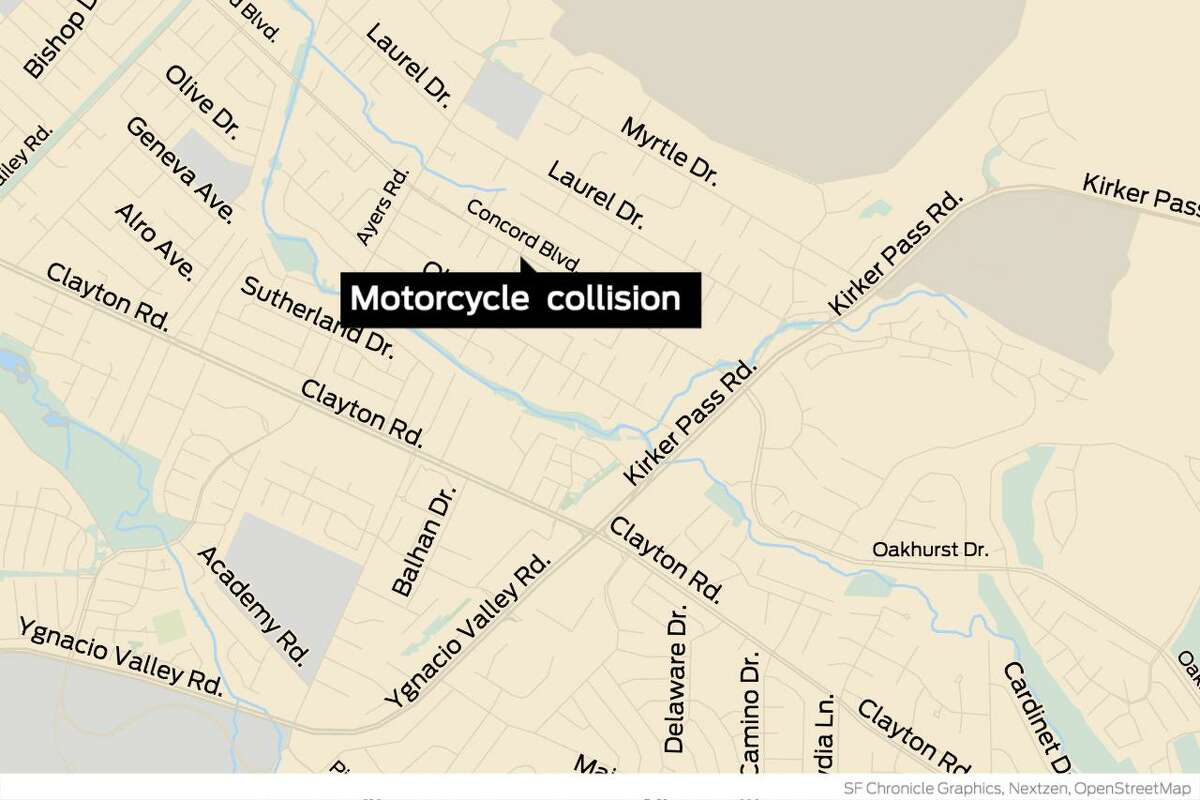 A motorcyclist was killed early Sunday in Concord after he rear-ended a car and then was run over by another vehicle, authorities said.