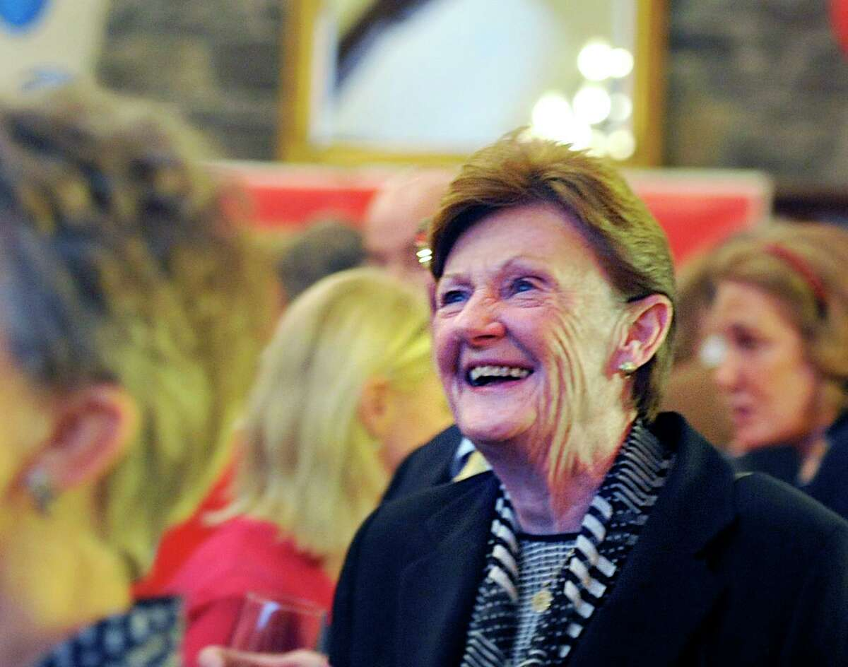 Barbara O'Neill, seen here celebrating her 2015 reelection, has decided not to run for a third term. She had initially put her name forward but ended her candidacy last week and has not given a reason why.