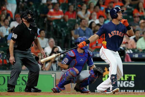Astros' Michael Brantley is home run king for a day