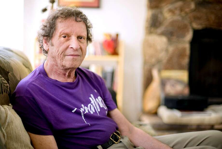 Author, comedian co-founder of the Yippie party as well as stand-up satirist, Paul Krassner,77, at his Desert Hot Springs, Calif., home on Thursday, May 7, 2009. Krassner died in California at age 87, according to his daughter. Photo: Eric Reed / Associated Press 2009