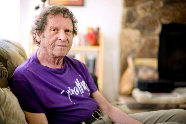 """Author, comedian co-founder of the Yippie party as well as stand-up satirist, Paul Krassner,77, at his Desert Hot Springs, Calif., home on Thursday, May 7, 2009. Krassner's new book, """"Who's to Say What's Obscene: Politics, Culture & Comedy in America Today"""" is expected to be released in July 2009. (AP Photo/Eric Reed)"""