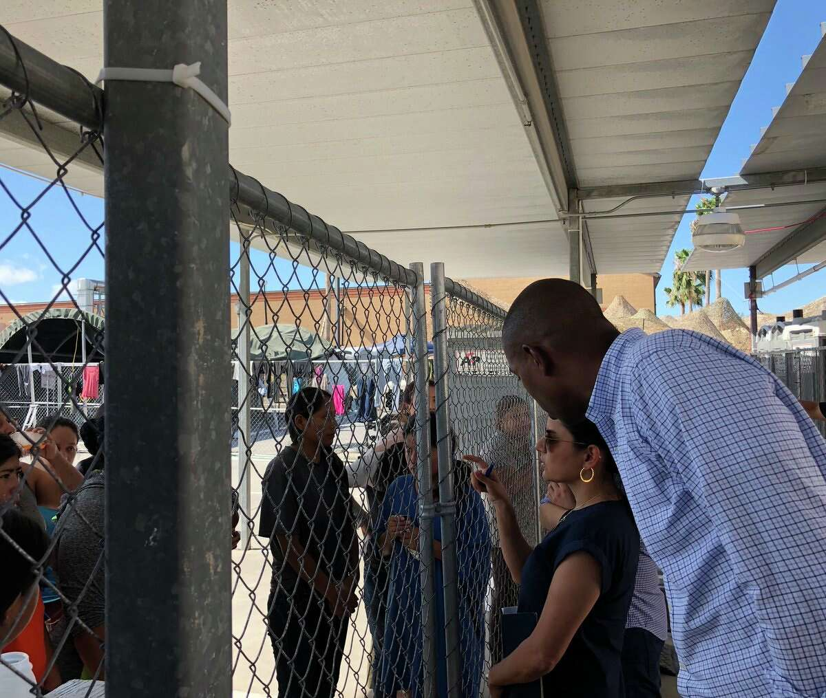 U.S. Rep. Antonio Delgado, a Democrat from the 19th District, visited migrant detention facilities along the southern border near McAllen, Texas, on Friday, July 19, 2019.