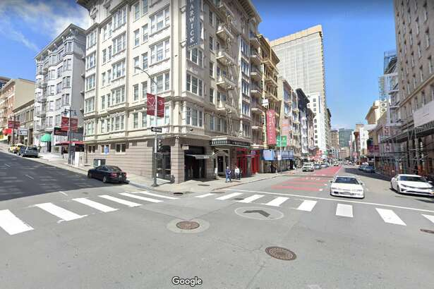 Two pedestrians suffered major injuries after being struck by a Tesla that was involved in a two-car collision on Sunday in the Tenderloin.