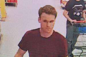 State police are seeking on a man believed to have stolen a purse from a Walmart in Lisbon on July 17, 2019, and released this image from surveillance footage.