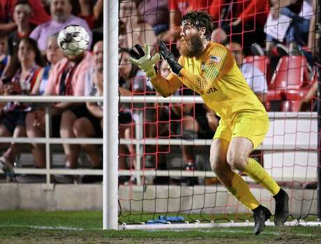 San Antonio FC goalkeeper Matthew Cardone, a MacArthur graduate, had four saves during Saturday's scoreless draw vs. Orange County SC.