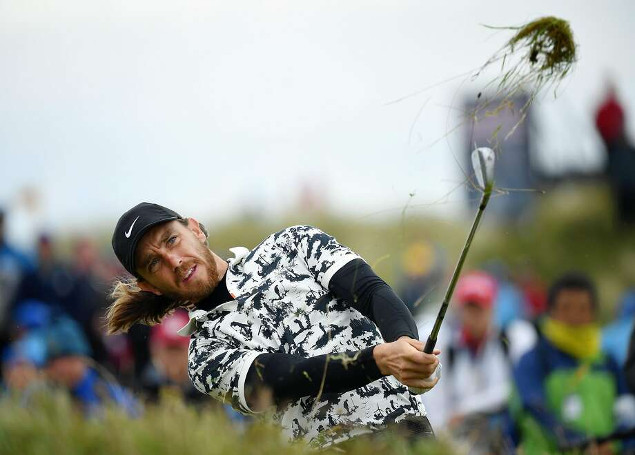 Tommy Fleetwood of England plays a shot on the 17th hole during the final round of the 148th Open Championship held on the Dunluce Links at Royal Portrush Golf Club. Photo: Stuart Franklin / Getty Images