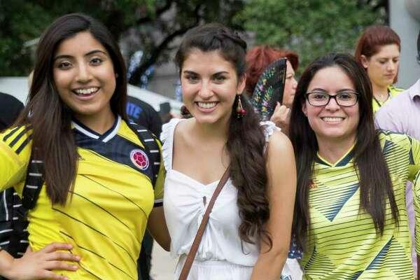 People enjoy the Colombian Fest International celebration in downtown Houston on Sunday, July 21, 2019.