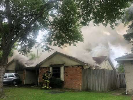An elderly woman was hospitalized with severe burns on Sunday after a home in Spring caught fire. Emergency crews were dispatched around 6 p.m. to the home in the 22500 block of Leafygate Drive, in the subdivision of Greengate, the Harris County Precinct 4 Constable's Office said. It was not immediately clear what caused the fire, or the extent of the woman's injuries.