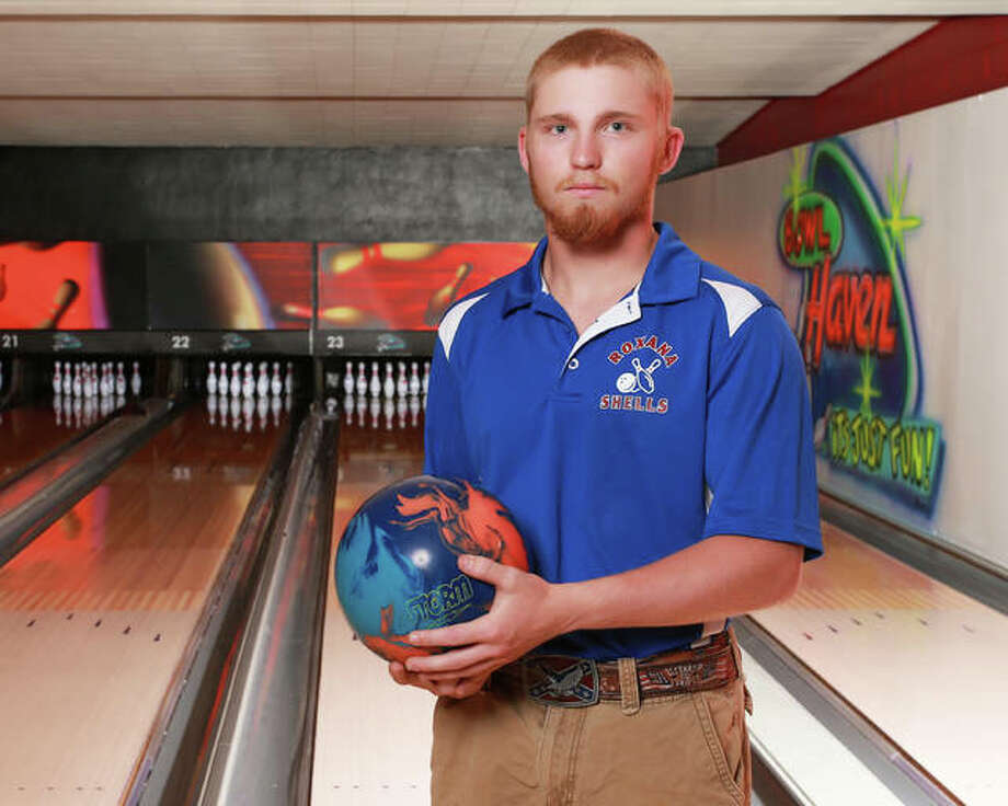 Christian Bertoletti advanced to the ISHA Boys State Bowling Tournament for the third consecutive year and took his Roxana High teammates with him this time. Bertoletti is The Telegraph Boys Bowler of the Year. Photo: Billy Hurst | For The Telegraph