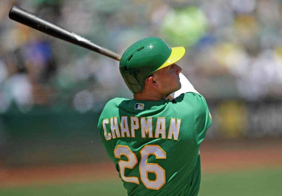 All-Star third baseman Matt Chapman leads the Athletics in home runs (22) and RBIs (59) this season. Photo: Ben Margot, STF / Associated Press / Copyright 2019 The Associated Press. All rights reserved.