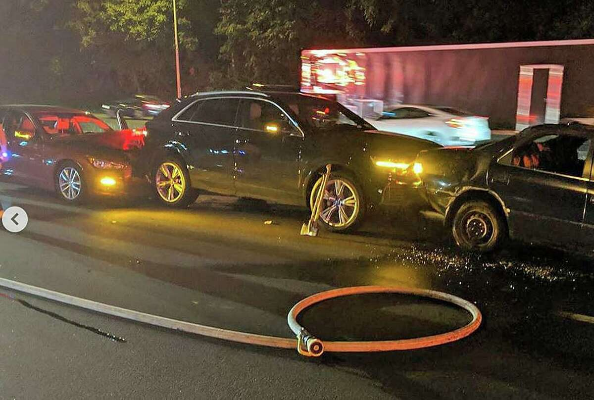 Several people were injured in a crash on I-95 that involved eight vehicles, two which caught fire on Sunday, July 21, 2019. The crash involved eight vehicles, two which caught fire. Eight people, with non-life threatening injuries were taken to the hospital in five ambulances. I-95 south was shut down for about an hour with traffic detoured off of Exit 16.