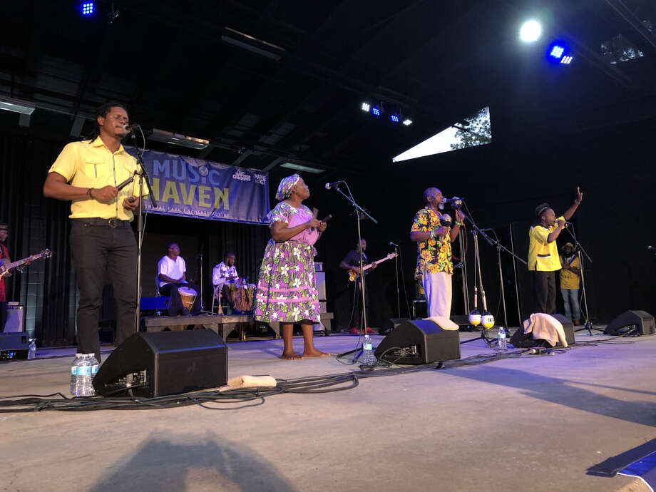 The Garifuna Collective performs at Music Haven in Schenectady on Sunday night, July 21, 2019. Photo: Gary Hahn / Times Union