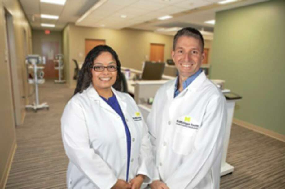 Pictured, from left, Tiffany Thalappillil Philip, D.O. and David Jordahl, M.D. (photo provided)