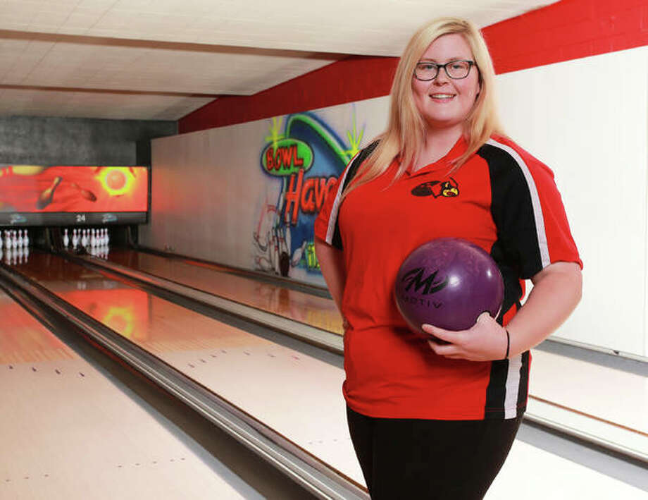 Alton High's Ashley Westbrook, The Telegraph Girls Bowler of the Year, will continue a life-long love affair with bowling at Columbia College this fall. Photo: Billy Hurst | For The Telegraph