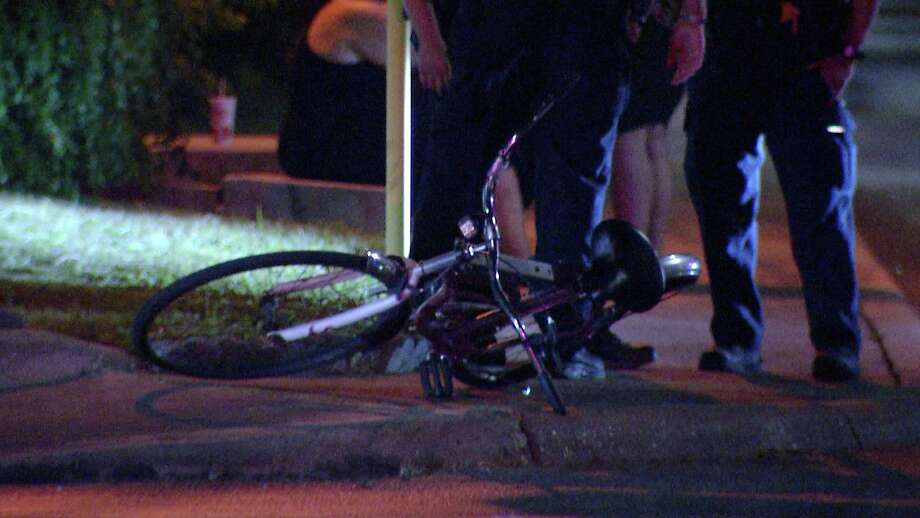 A bicyclist was taken to a local hospital after a pickup truck crashed into him Sunday night on the city's West Side, San Antonio police said. Photo: Ken Branca