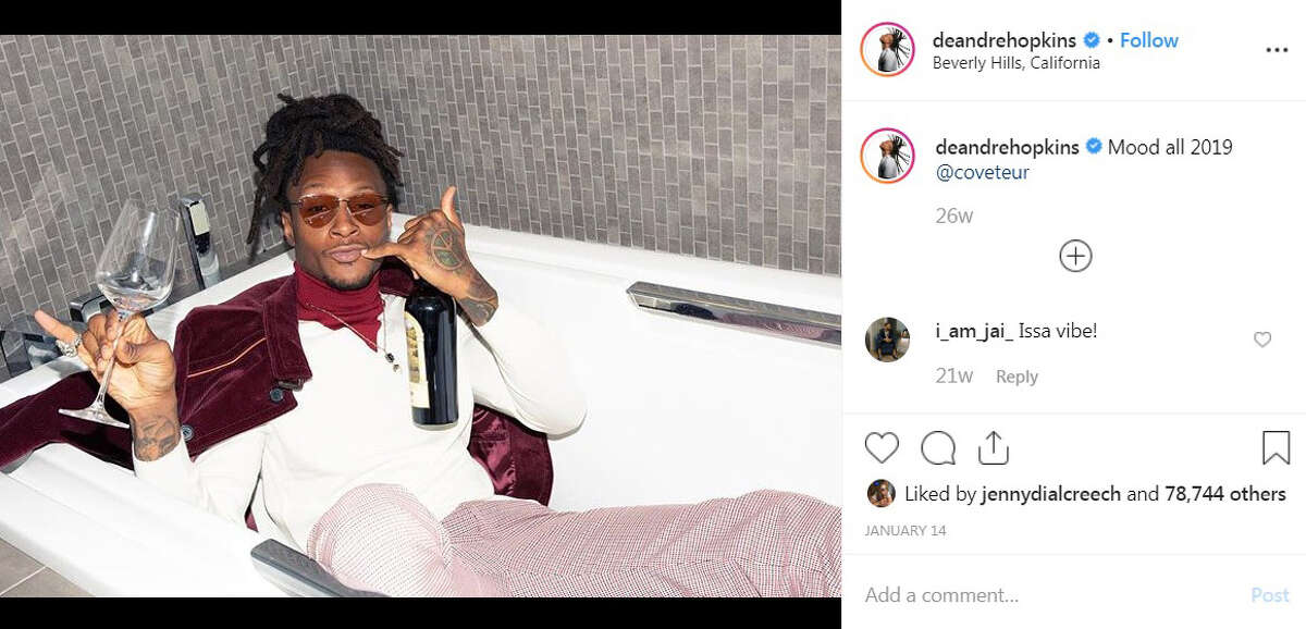 Houston Texans receiver DeAndre Hopkins spent time living it up in Beverly Hills, California.