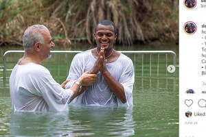 Houston Texans quarterback Deshaun Watson got baptized in the Jordan River.