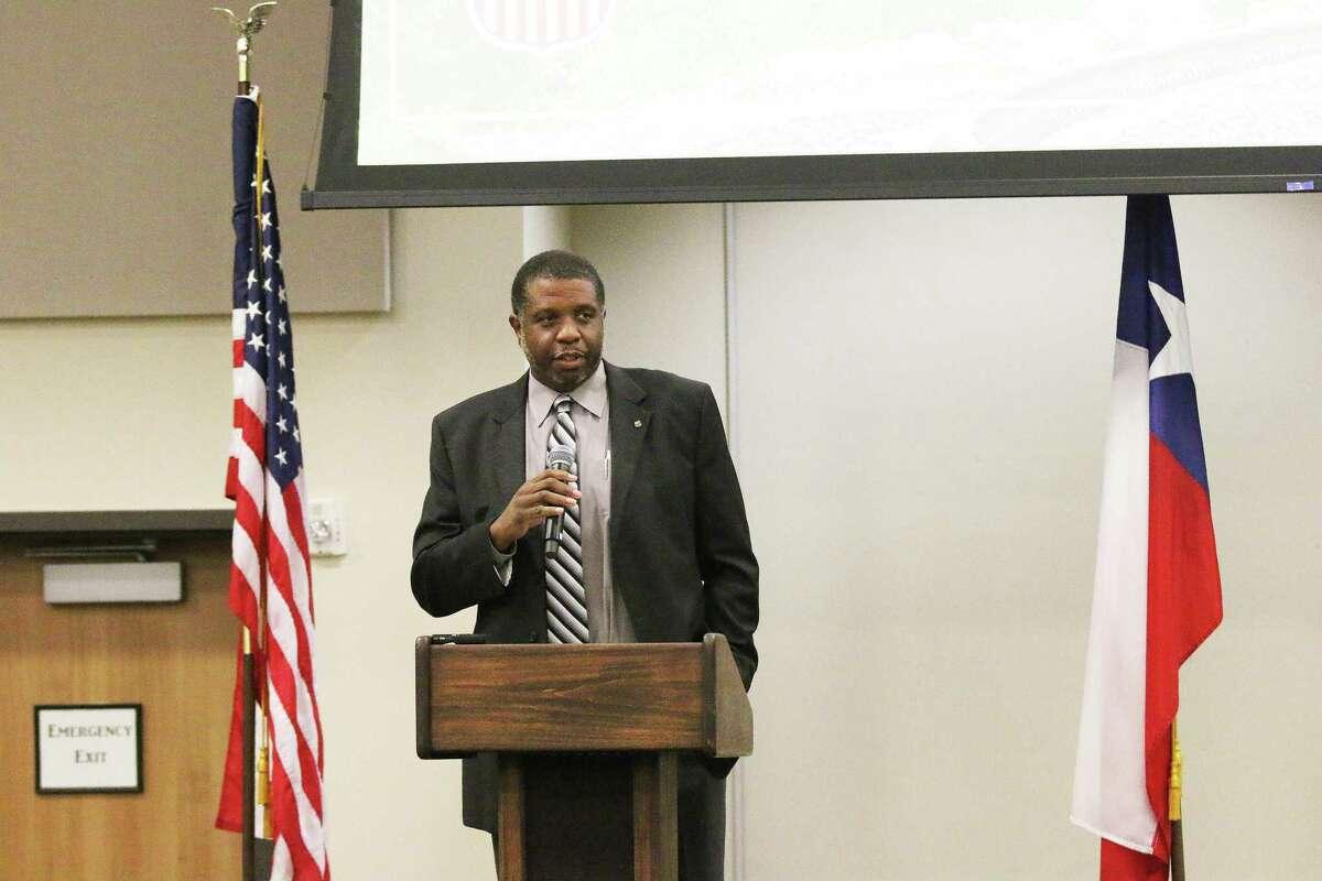 Eric Watkins, general director of network, economic, and investor development for the new facilities and growth in the Union Pacific Economic and Industrial Development Group, spoke to the stakeholders at the Liberty County Economic Summit and explained their mission to help grow business.