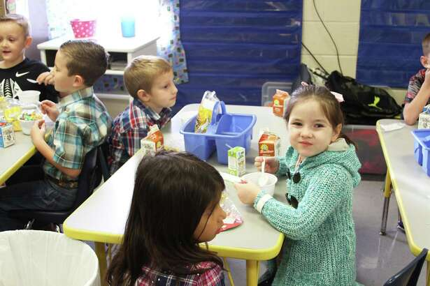 Students at COCISD enjoying free breakfast last year. The district announced that they qualify again for the Community Eligibility Provision program and all students in the district will receive free breakfast and lunch.