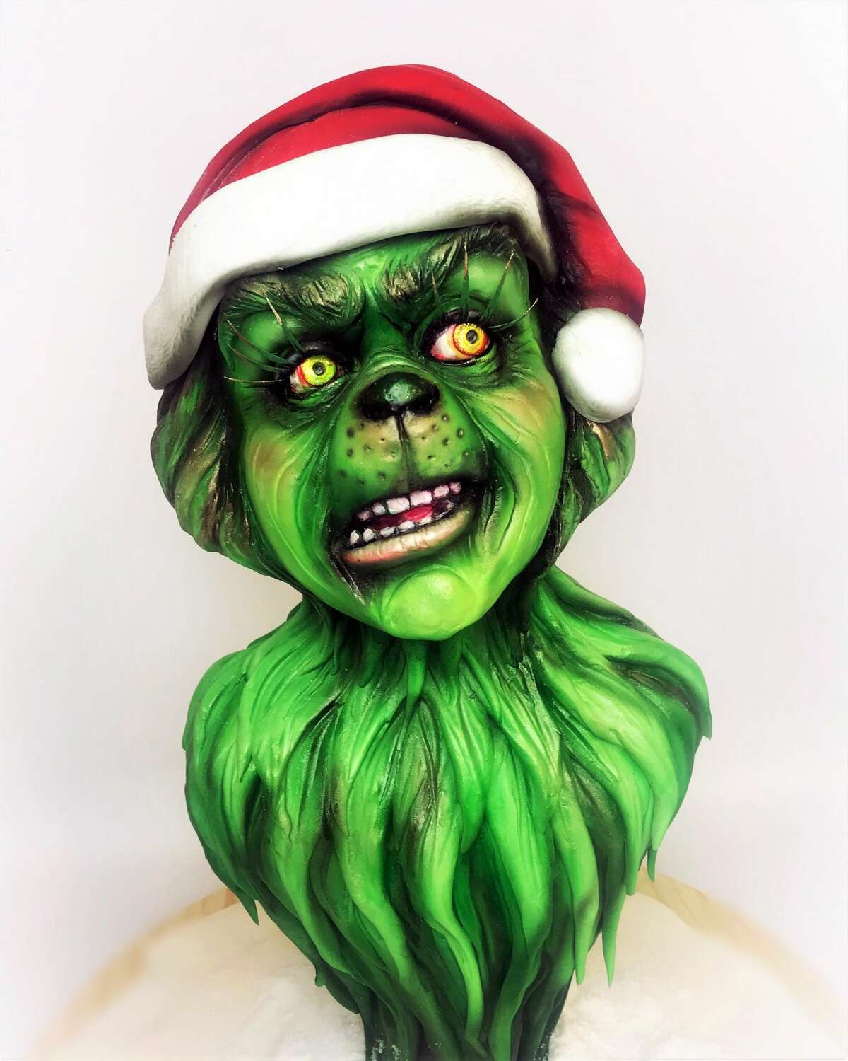Cake artist Sarah Ono Jones of Houston's Common Bond shares her creations. Pictured: The Grinch.