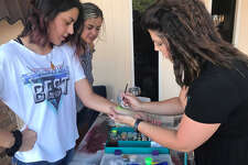 Tulia residents celebrate the annual Birthday Bash with activities around the square.