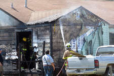 A family of four was displaced Thursday when a fire ignited outside their home.