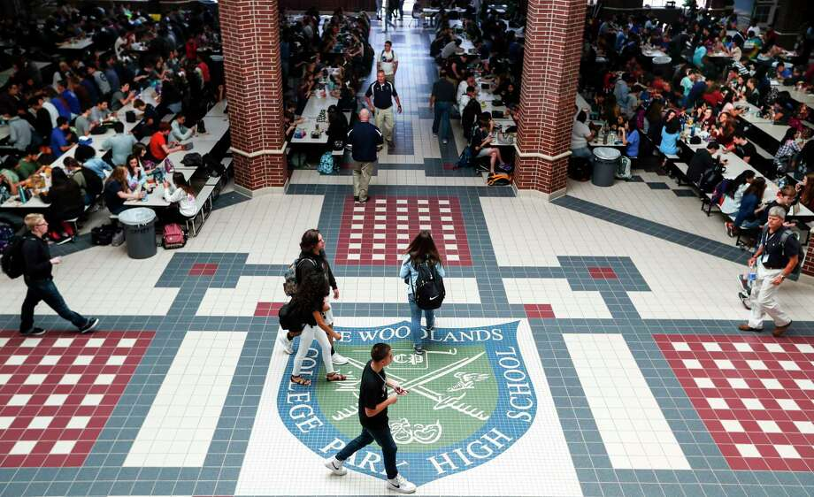 As summer winds down, families begin to think about what's needed to send their child back to school for the 2019-20 school year beginning mid-August—and the Conroe Independent School District has a few resources for families during this time. Here, students fill the lunchroom and walk the hallways during the first day back at school following Hurricane Harvey at The Woodlands College Park High School on Tuesday, Sept. 5, 2017, in The Woodlands. Students in the Conroe Independent School District returned to classes for the first time since Hurricane Harvey hit the area. ( Brett Coomer / Houston Chronicle ) Photo: Brett Coomer, Staff / Houston Chronicle / © 2017 Houston Chronicle