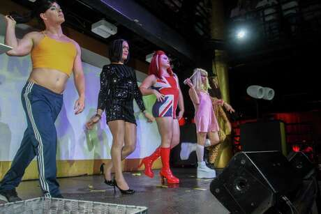 EMBARGOED FOR SOCIETY REPORTER UNTIL JULY 22 Performers at Legacy Community Health's annual Mint Julep 'Girls & Guys Just Wanna Have Fun,' at Rich's Houston.