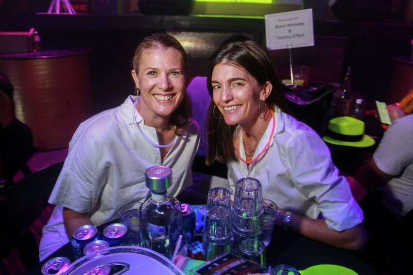 Lizzy Perrin, left, and Liz Stepanian at Legacy Community Health's annual Mint Julep 'Girls & Guys Just Wanna Have Fun,' at Rich's Houston.
