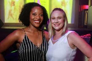 EMBARGOED FOR SOCIETY REPORTER UNTIL JULY 22 Kemi Nurudeen, left, and Tiffany D'Antonio at Legacy Community Health's annual Mint Julep 'Girls & Guys Just Wanna Have Fun,' at Rich's Houston.
