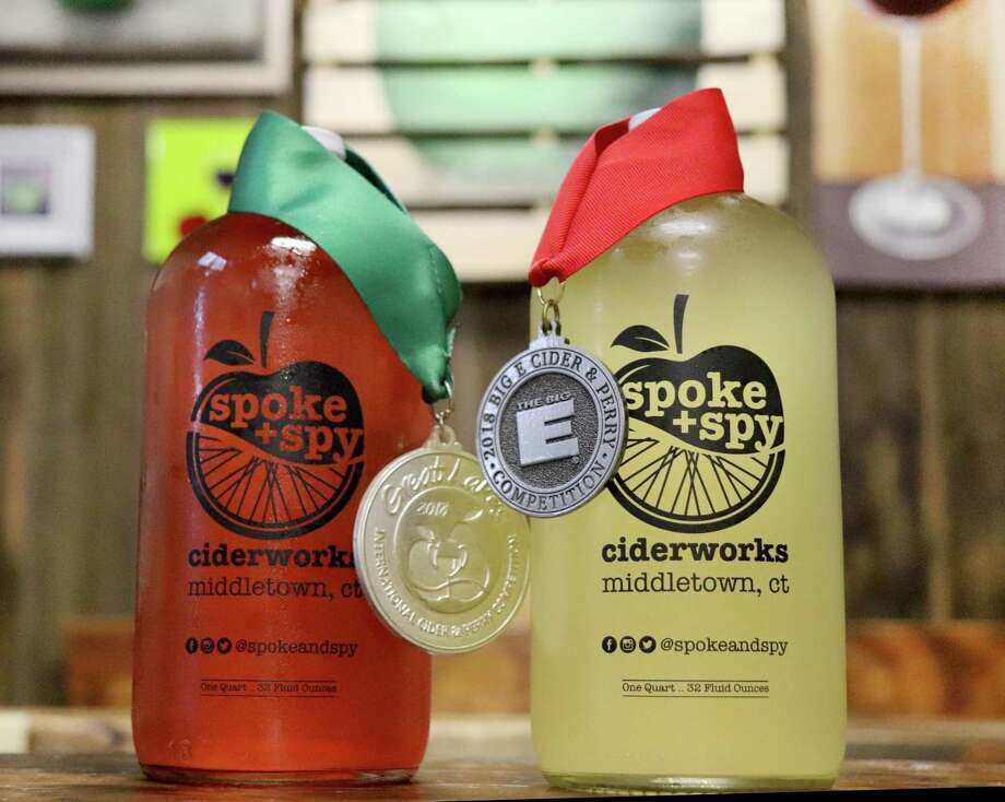Middletown's Spoke + Spy Ciderworks' local hard cider has earned several major awards on an international stage. The world's largest cider and perry judging competition, The Great Lakes International Cider and Perry Competition, took place in May in Grand Rapids, Michigan. Photo: Brian Oleksiw Photo