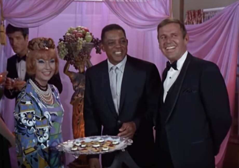 "Willie Mays in ""Bewitched."" Why was Willie Mays on ""Bewitched""? It's unclear. In any case, Mays is evidently a warlock in the ""Bewitched"" universe due to his hitting prowess. Photo: ABC"