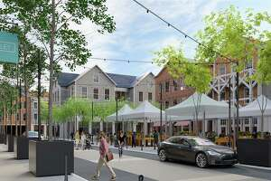 The Corbin District, a mixed-use redevelopment of downtown Darien. The 7.17-acre site spans from Corbin Drive to the Bank of America building on the Post Road. Work is expected to begin on the project in early 2020.