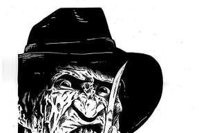 Illustration of Freddy Krueger by artist Mark Wise