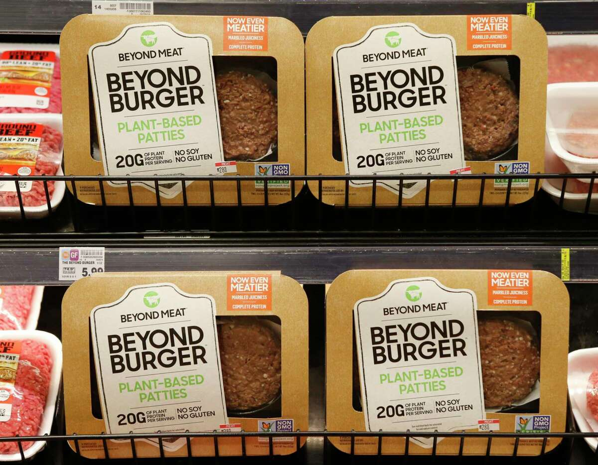 Beyond Meat Beyond Burger packages