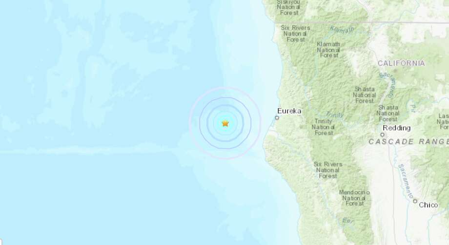 A magnitude 4.0 earthquake struck off the Northern California coast Monday morning, July 22, 2019, about 46 miles west of Eureka, California. Photo: USGS