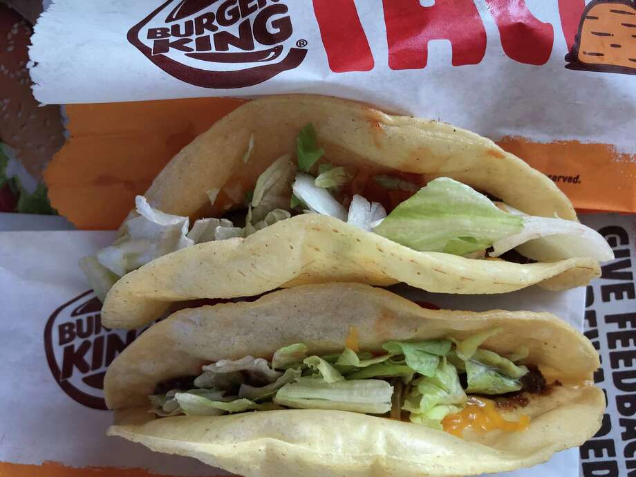 Two of the new Burger King tacos.  Photo: Greg Morago