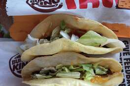 Two of the new Burger King tacos. Verdict: Not good.